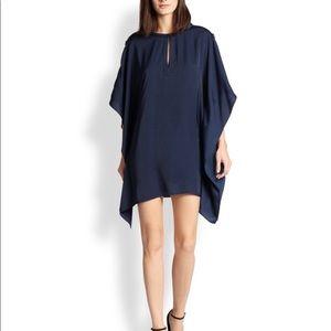 BCBG Blue Satin Kimono Dress- New with tags!!
